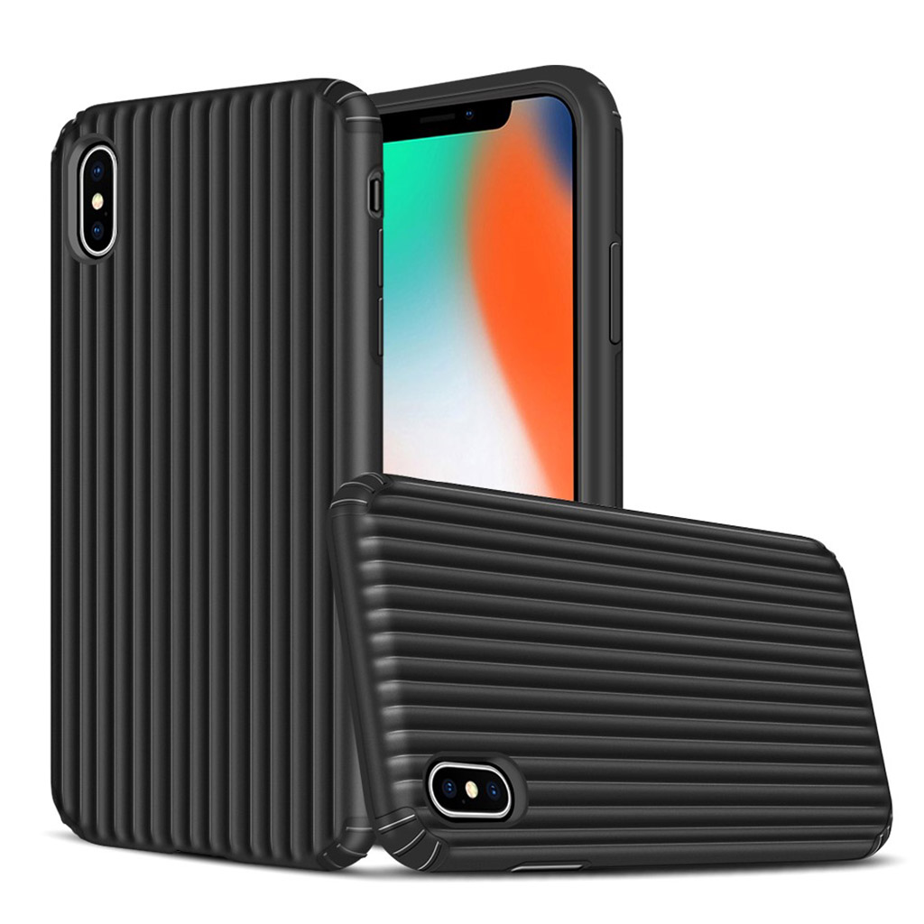 iPhone XS suitcase shape hybrid case - Black