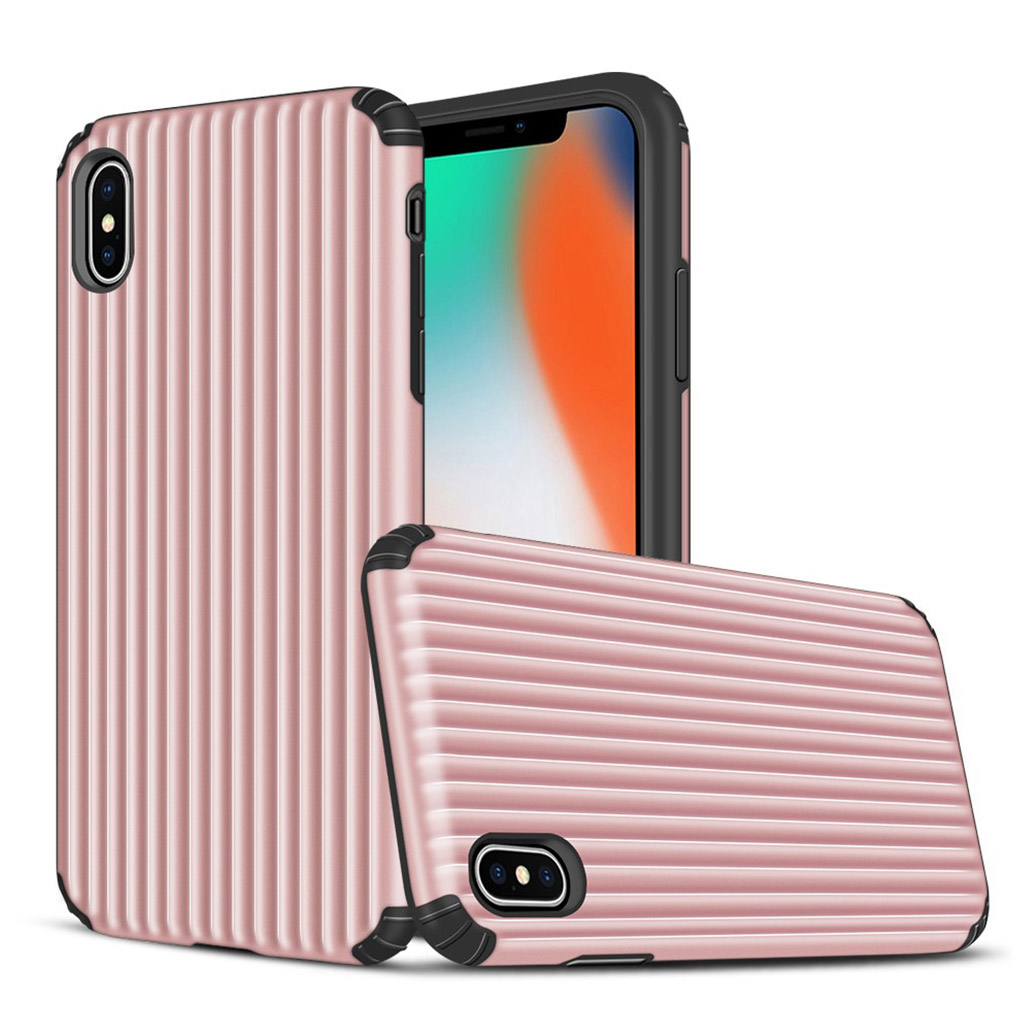 iPhone XS suitcase shape hybrid case - Pink