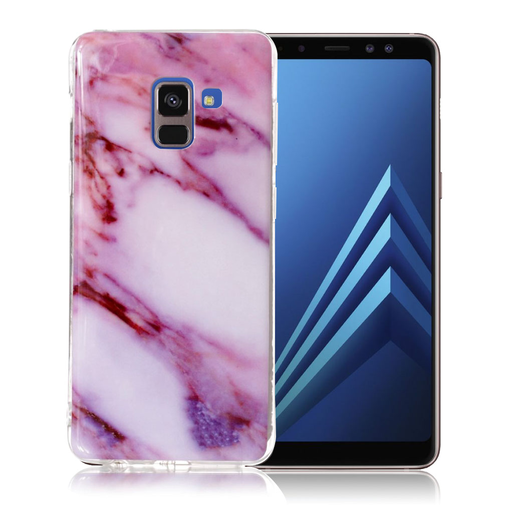 Samsung Galaxy A8 (2018) pattern printing soft case - Rose Marble