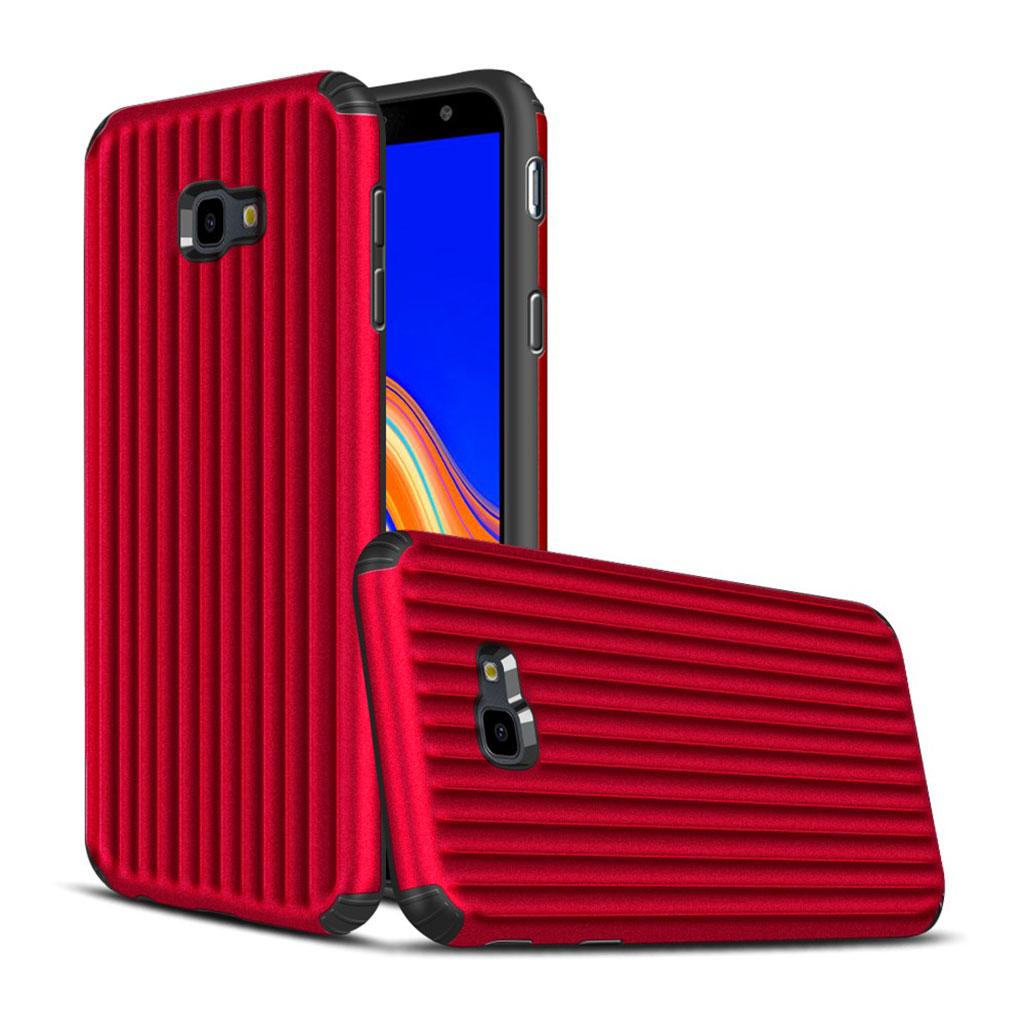 Samsung Galaxy J4 Plus (2018) kuffert hybrid etui - Rød