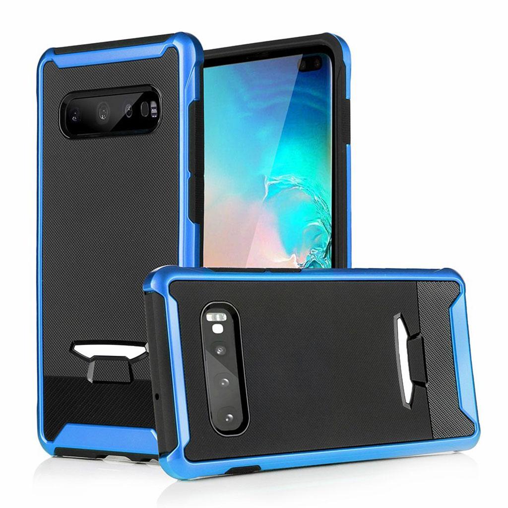 Samsung Galaxy S10 granular hybrid case - Blue