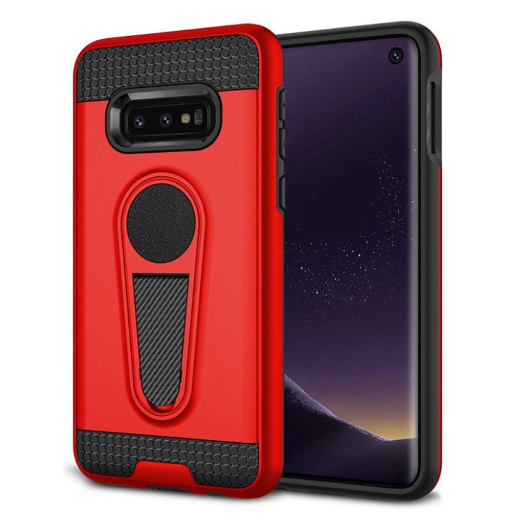Samsung Galaxy S10e holdbart hybrid etui - Rød