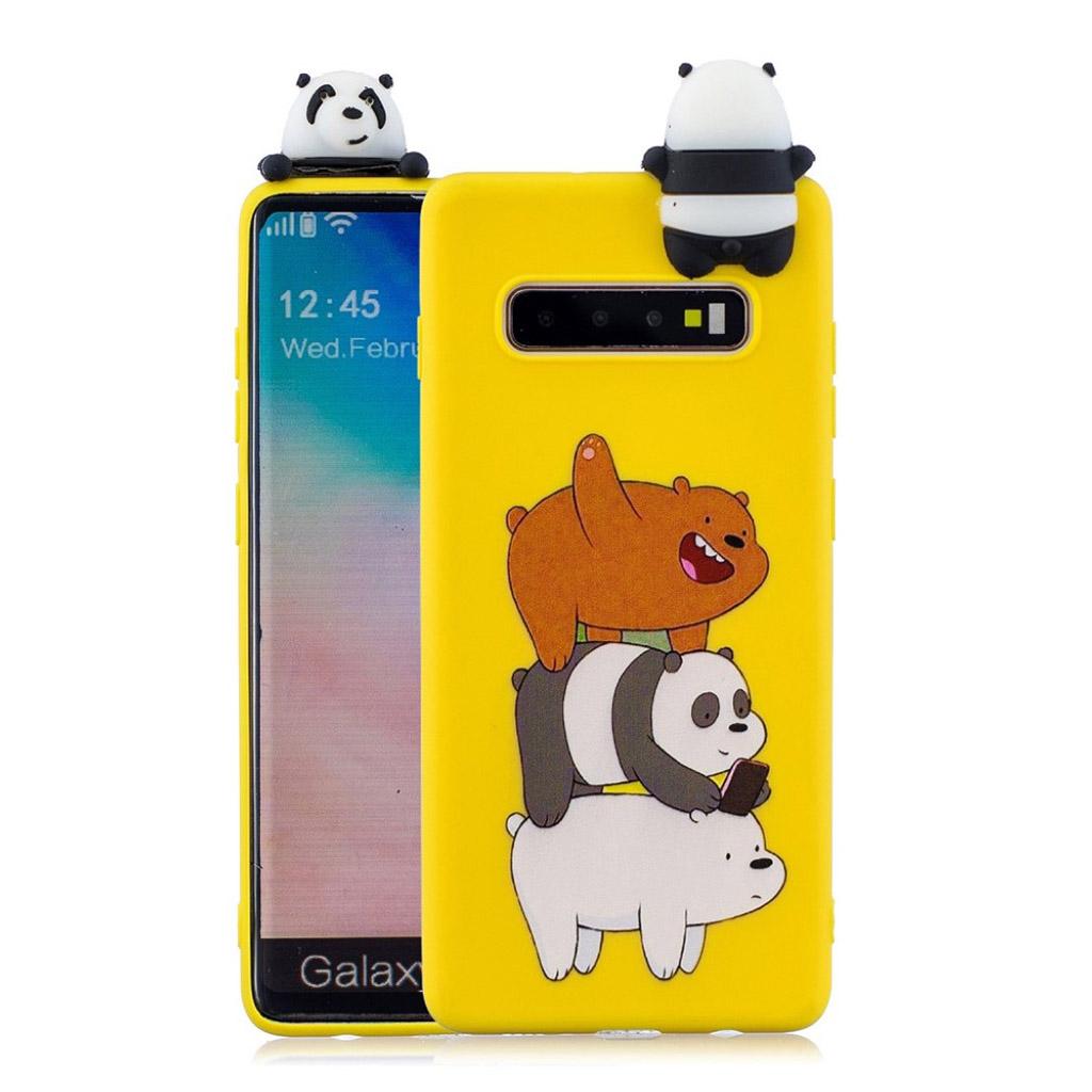 Samsung Galaxy S10 Plus 3D dyre etui - Panda og Bjørn