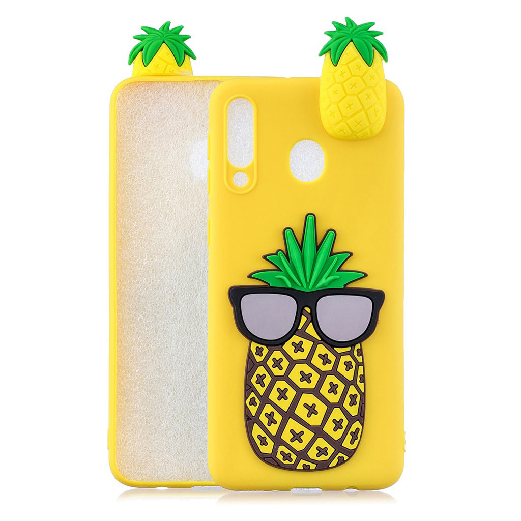 Cute 3D Samsung Galaxy A40 cover - Ananas med Solbriller