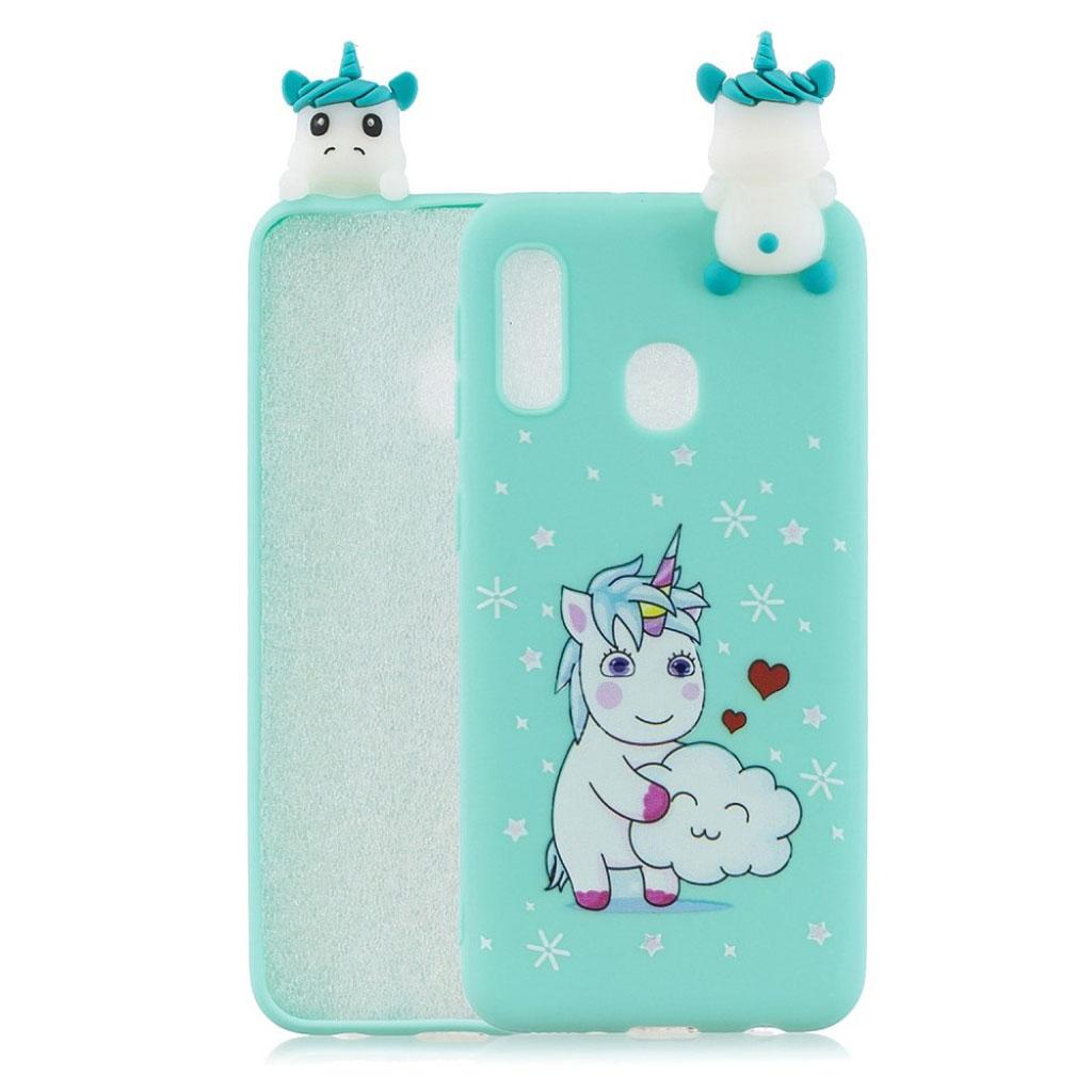 Cute 3D Samsung Galaxy A20e case - Unicorn