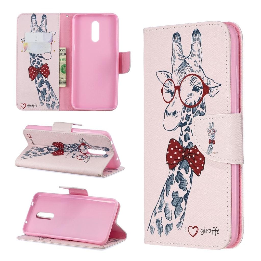 Wonderland Nokia 3.2 etui - Sød giraf med briller