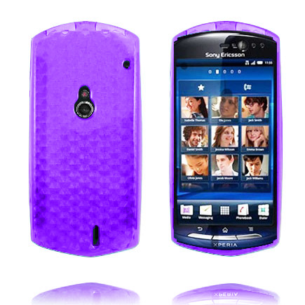 Image of   Cubes (Lilla) Sony Ericsson Xperia Neo Cover