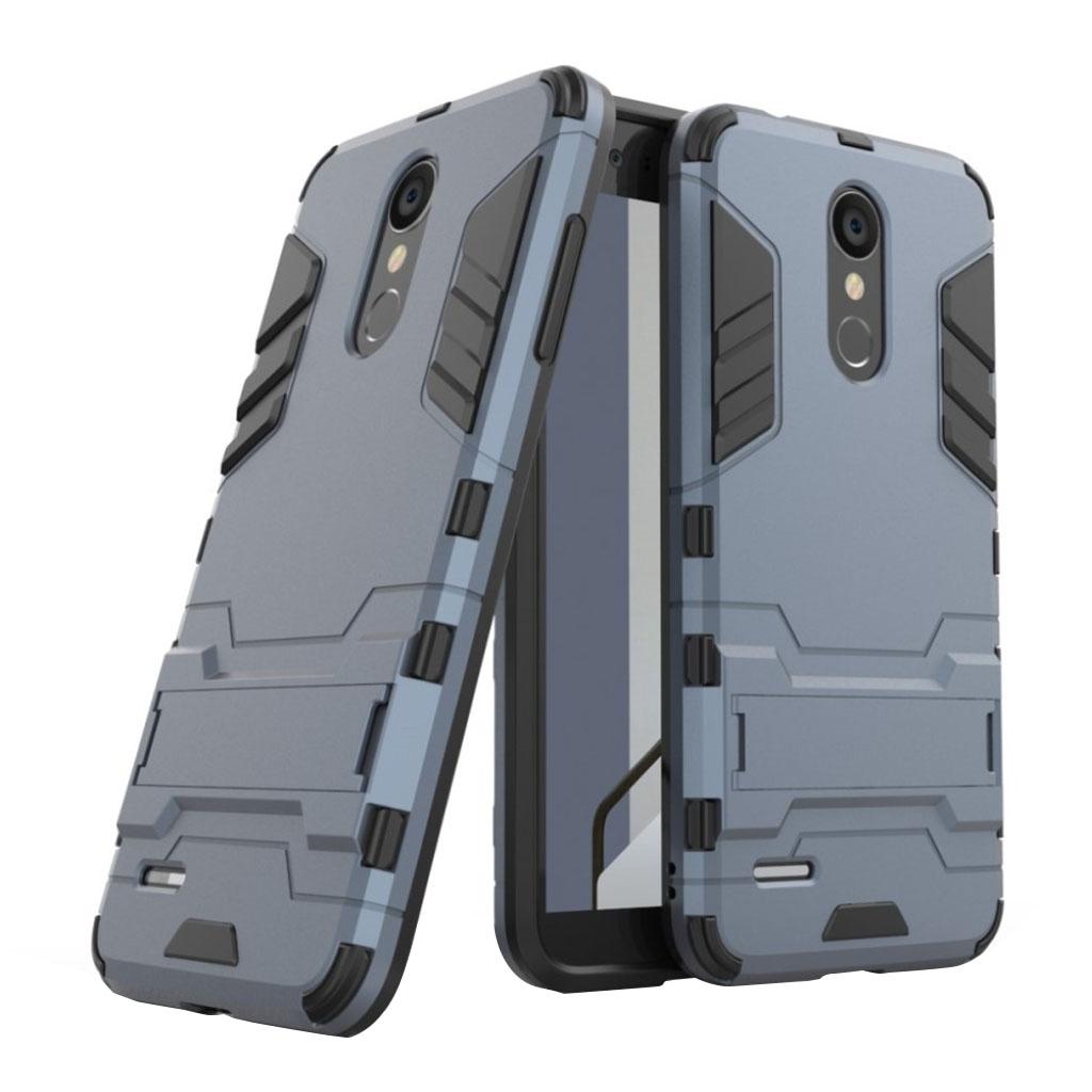 LG K8 (2018) beskyttelsesetui i kombimaterialer med stødafvisende overflade - Mørkeblå