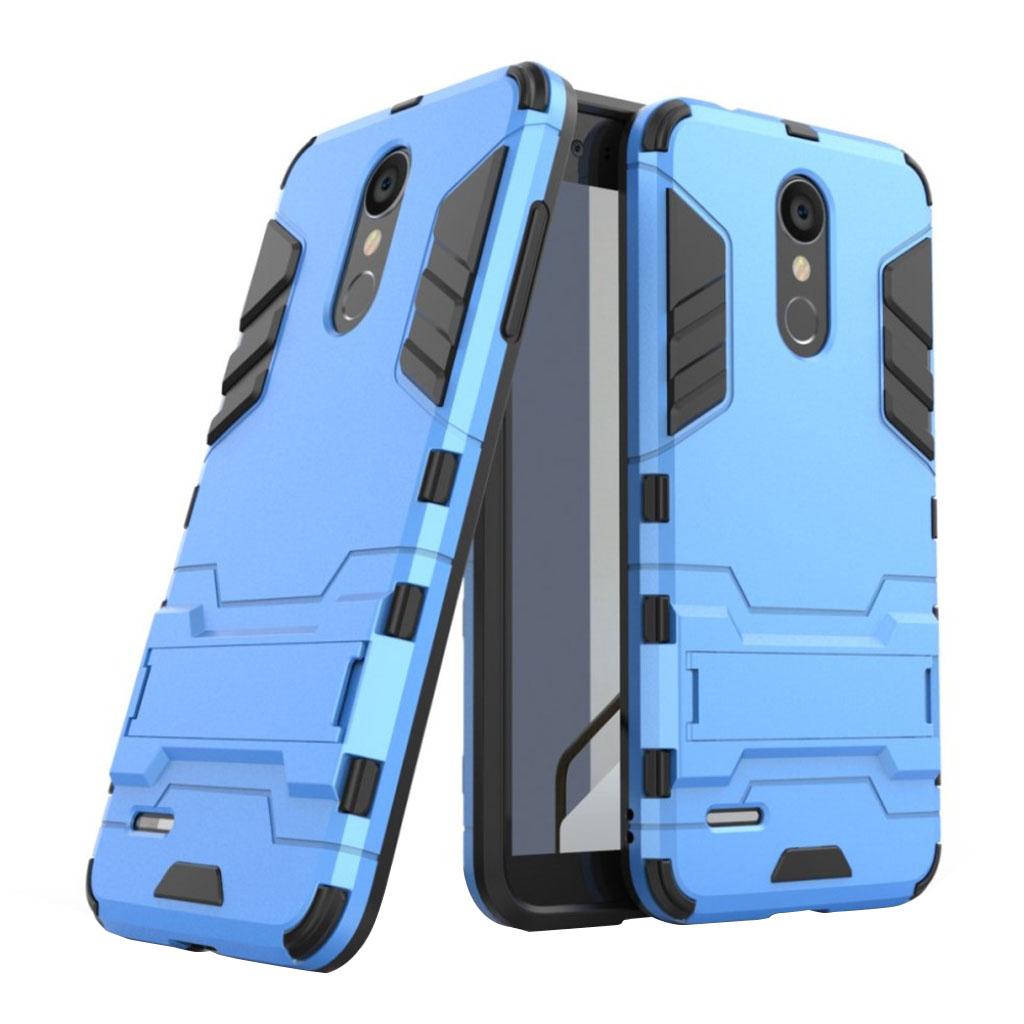 LG K8 (2018) beskyttelsesetui i kombimaterialer med stødafvisende overflade - Baby Blå