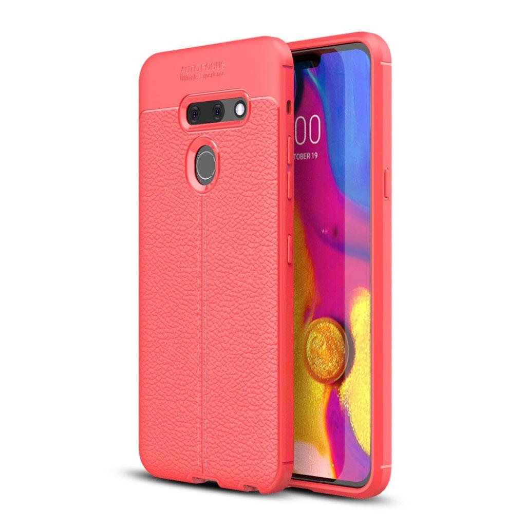 LG G8 ThinQ litchi etui - Rød
