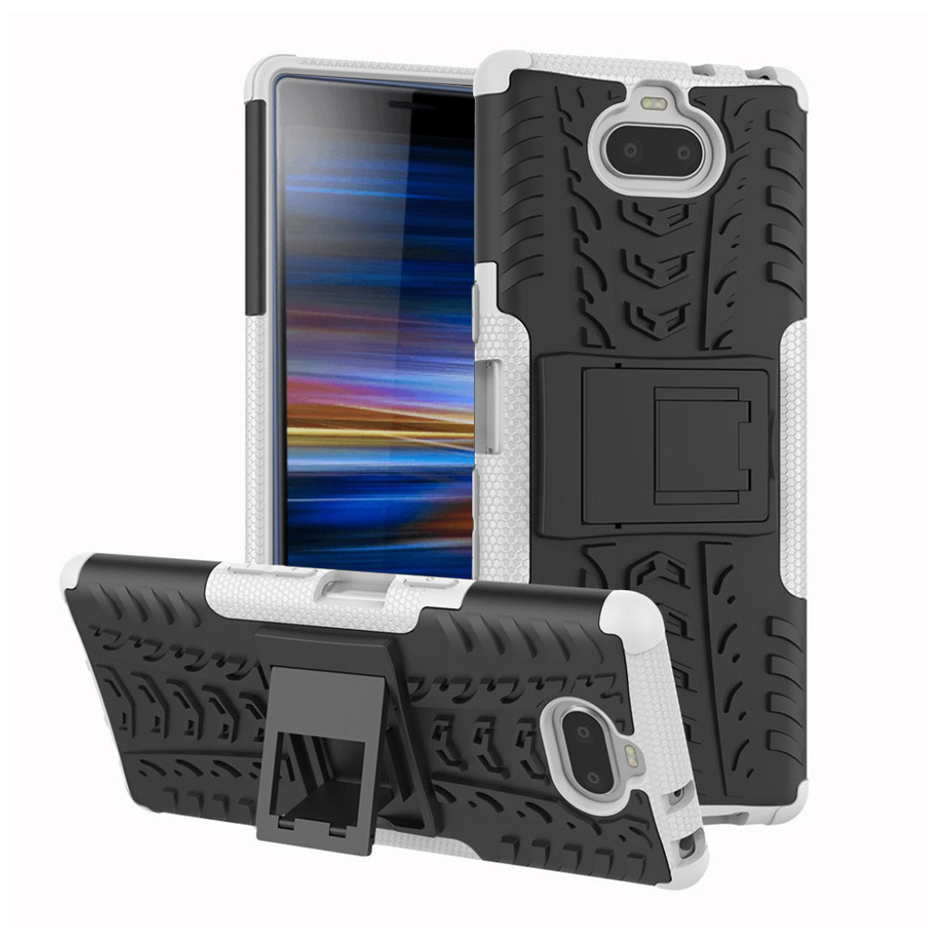 Sony Xperia 10 anti-slip hybrid etui - Hvid