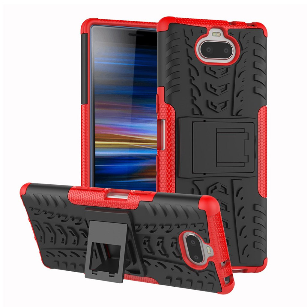 Sony Xperia 10 anti-slip hybrid etui - Rød