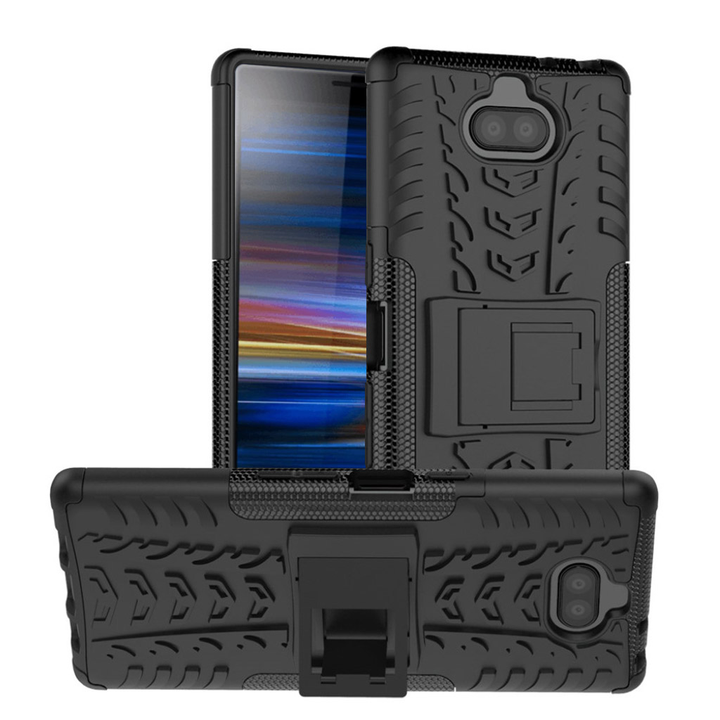 Sony Xperia 10 Plus dæk kombo etui - Sort