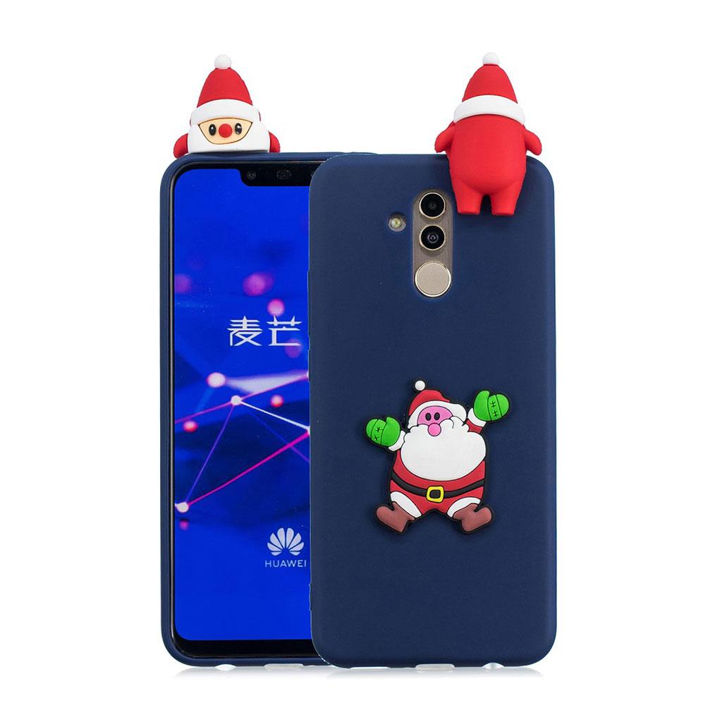 Huawei Mate 20 Lite beskyttelsesetui i silikone med 3D jule dekoration - Stil I
