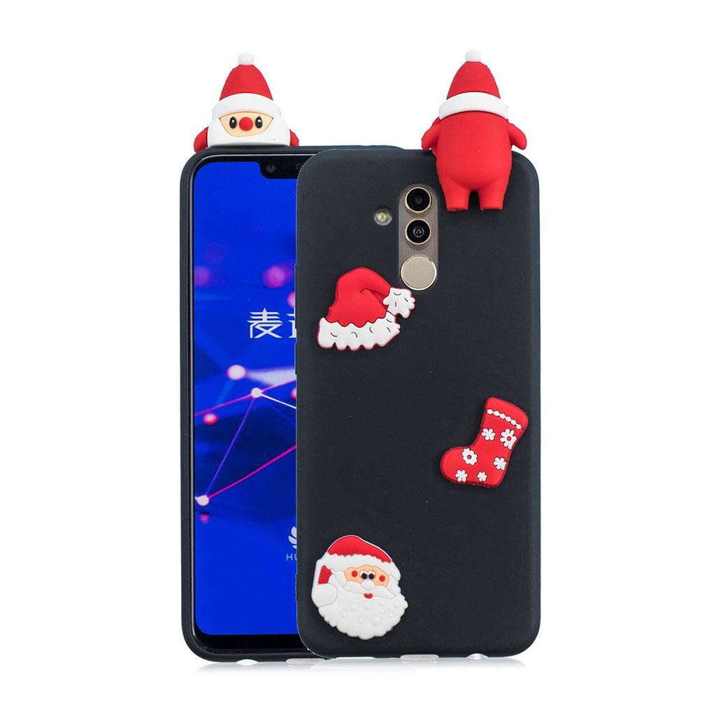 Huawei Mate 20 Lite beskyttelsesetui i silikone med 3D jule dekoration - Stil N
