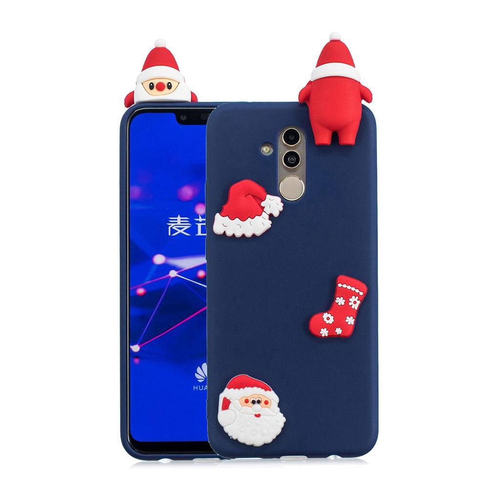 Huawei Mate 20 Lite beskyttelsesetui i silikone med 3D jule dekoration - Stil M
