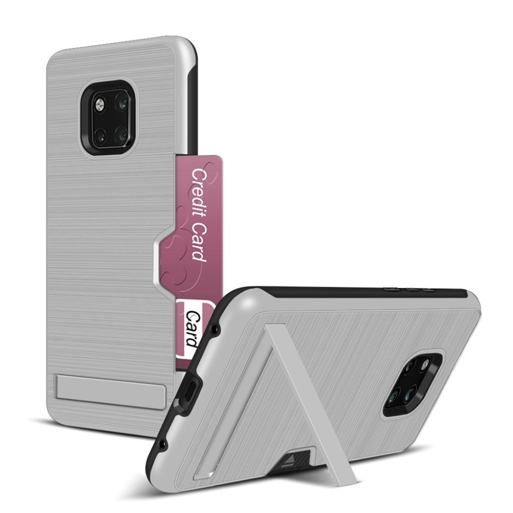 Huawei Mate 20 Pro penslet kickstand etui - Sølv