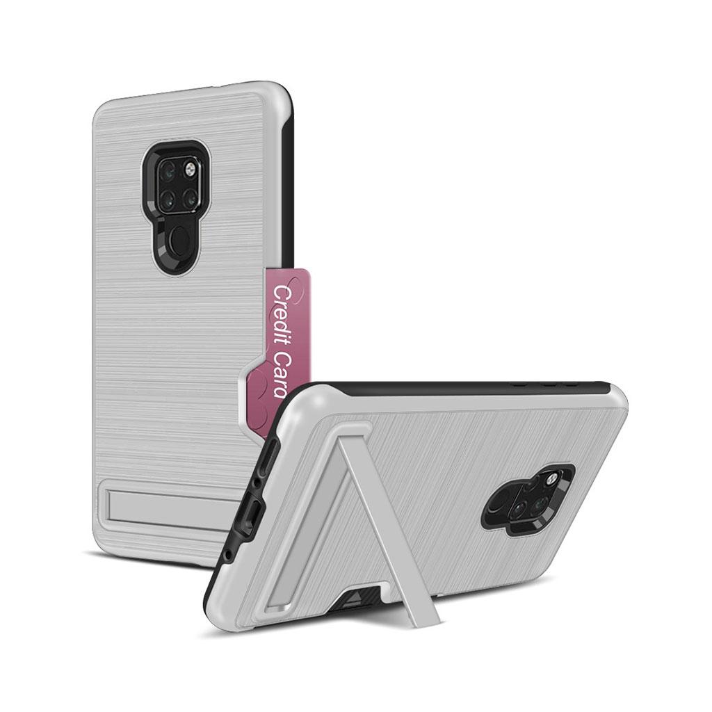 Huawei Mate 20 kickstand penslet etui - Sølv