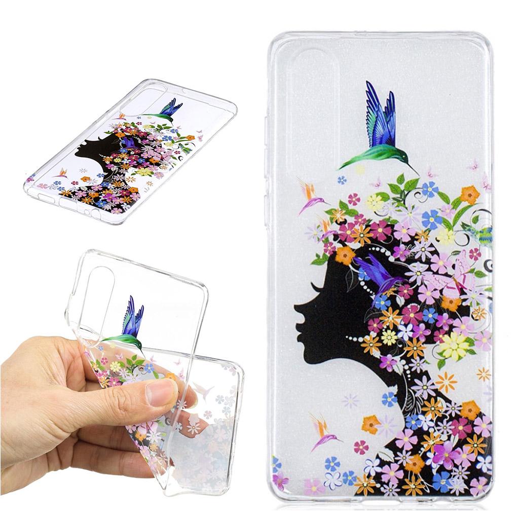 Huawei P30 trykt mønster blødt etui - Blomstret Skønhed