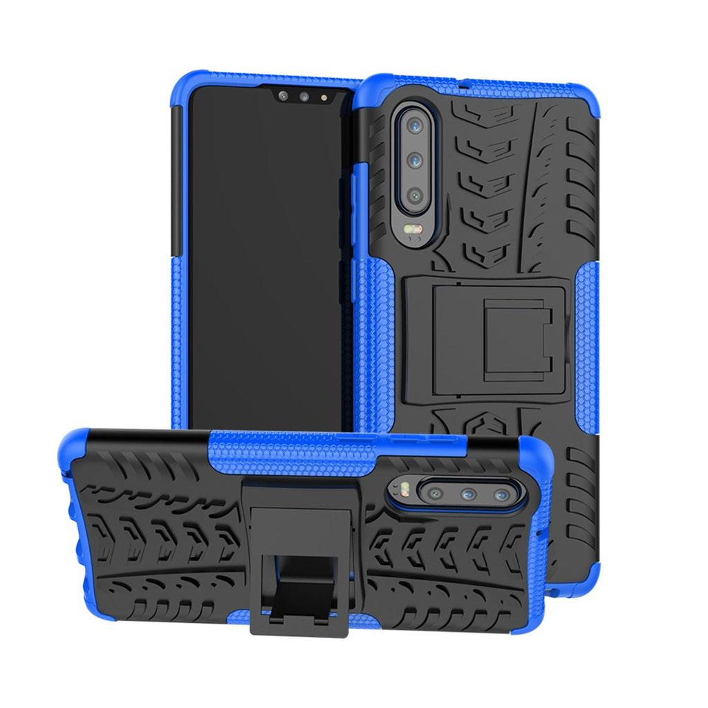 Huawei P30 skridsikkert hybrid etui - Blå