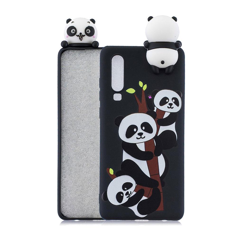 Huawei P30 3D sødt dukke mønstret etui - Søde Pandaer