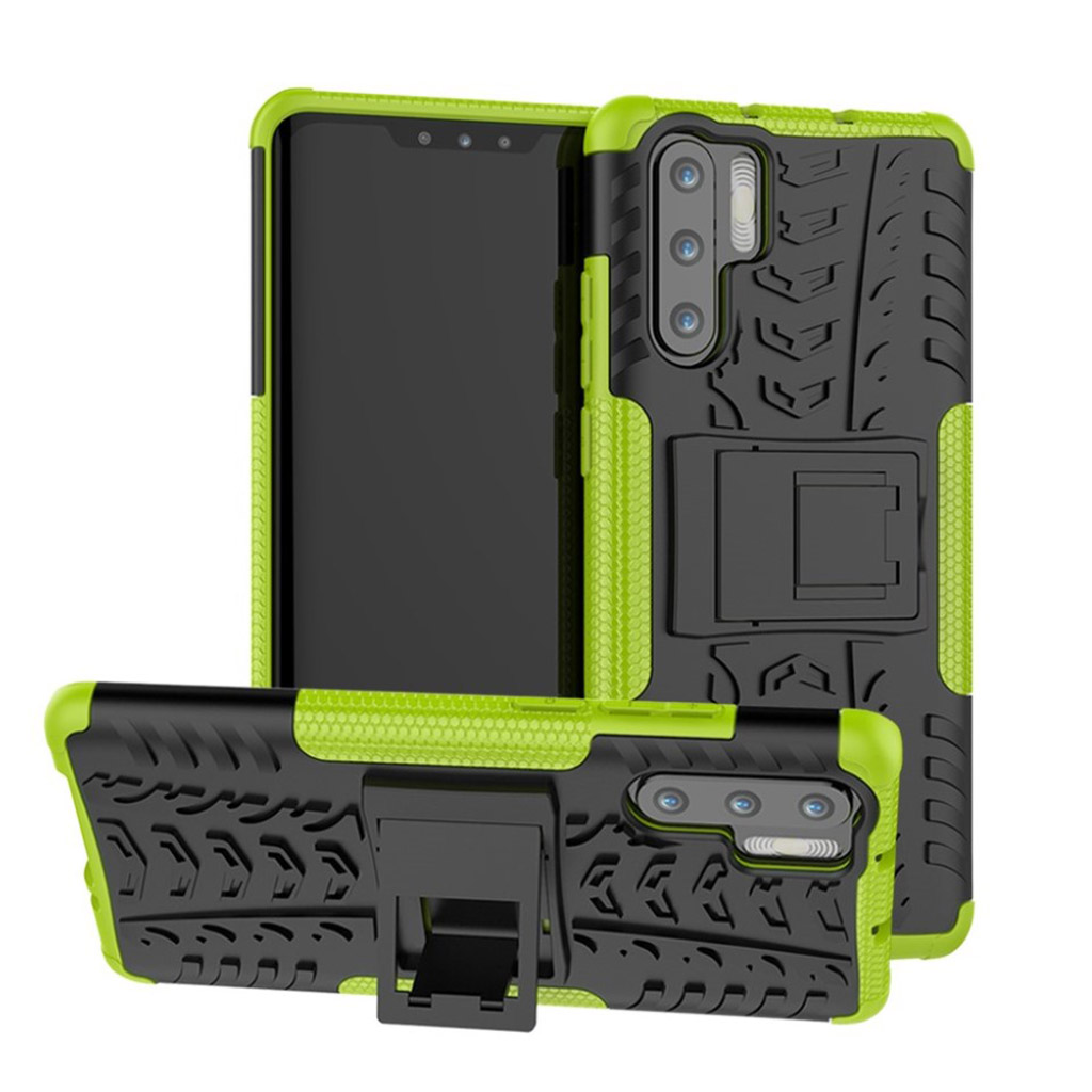 Huawei P30 Pro skridsikkert hybrid etui - Grøn