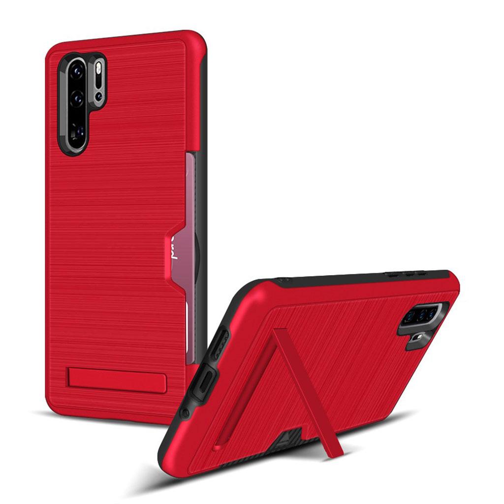 Huawei P30 Pro børstet etui - Rød