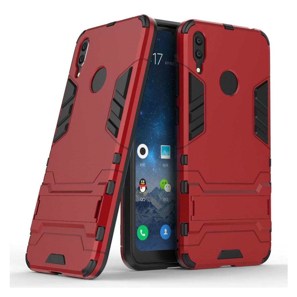 Huawei Y7 2019 hybrid etui - Rød