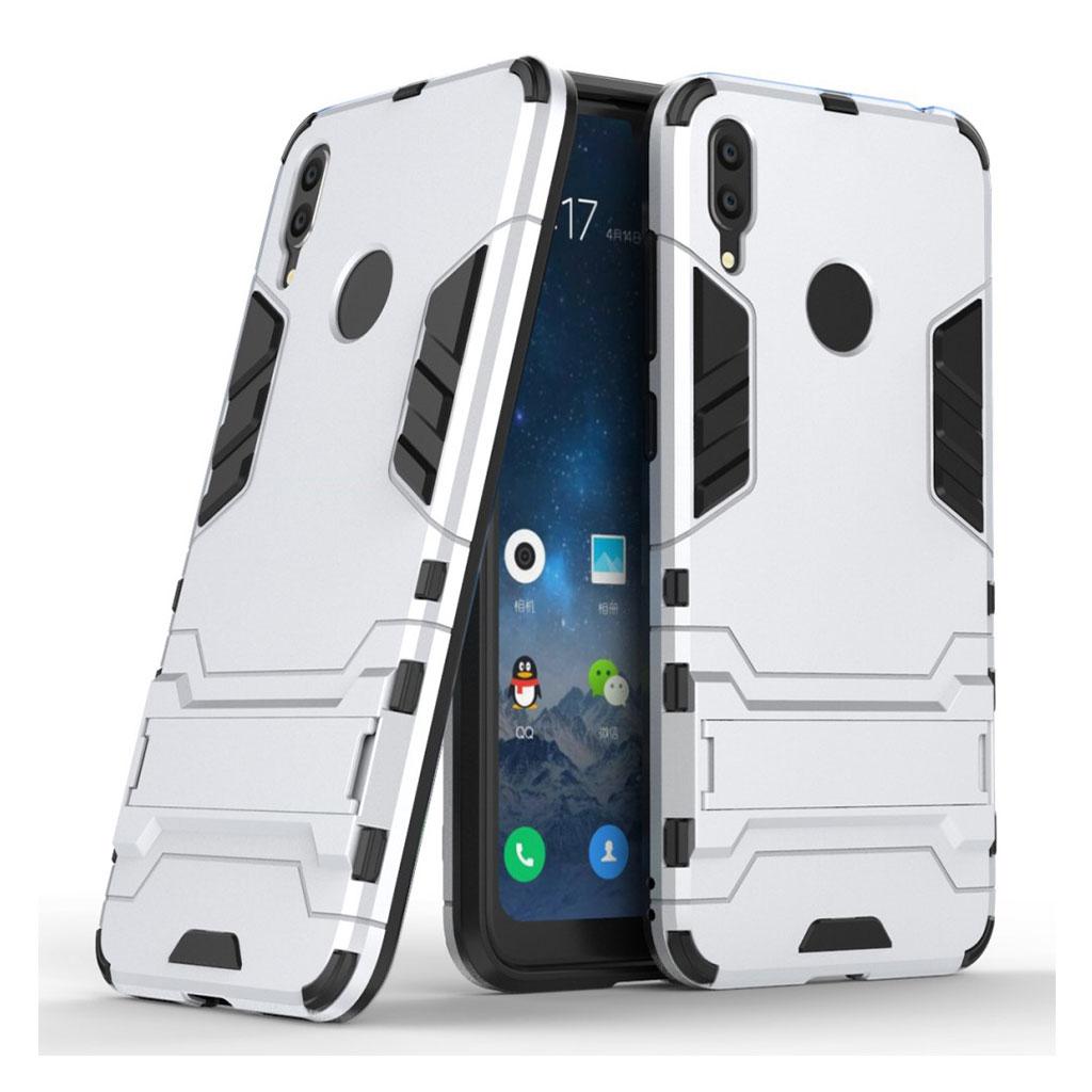 Huawei Y7 2019 cool guard hybrid etui - Sølv