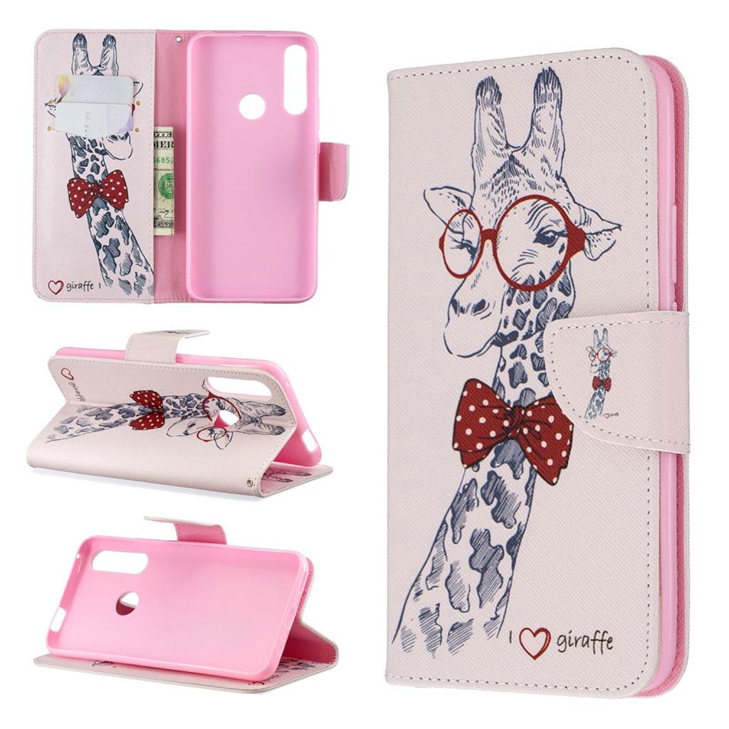 Wonderland Huawei P Smart Z etui - Giraf med Briller