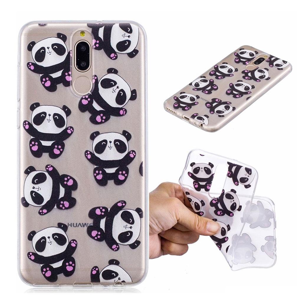 Image of   Huawei Mate 10 Lite mobiletui i kombi materialer med printet mønster - Søde Pandaer