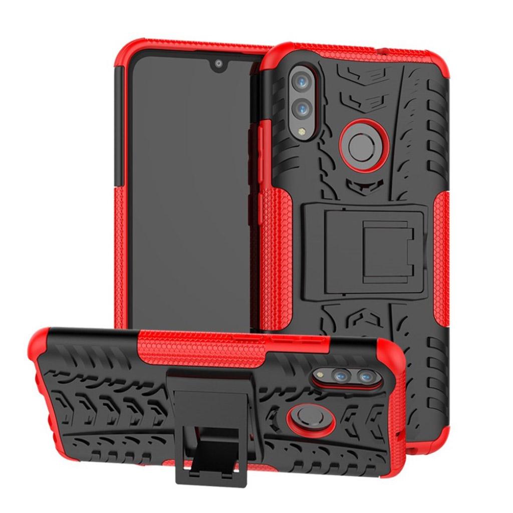 Huawei P Smart 2019 skridsikkert hybrid etui - Rød