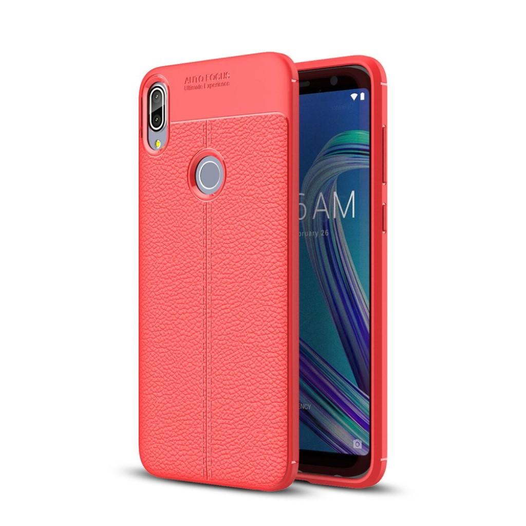 Asus ZenFone Max Pro (ZB602KL) mobiletui i silikone med Litchi tekstur - Rød