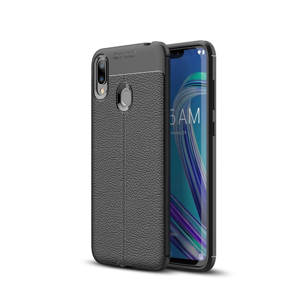 Asus ZenFone Max (M2) litchi etui - Sort