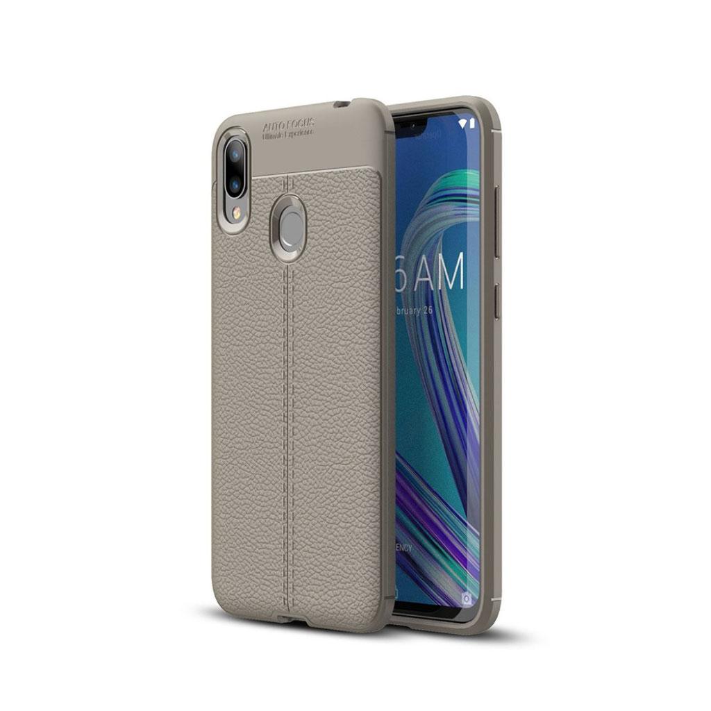 Asus ZenFone Max (M2) litchi etui - Grå