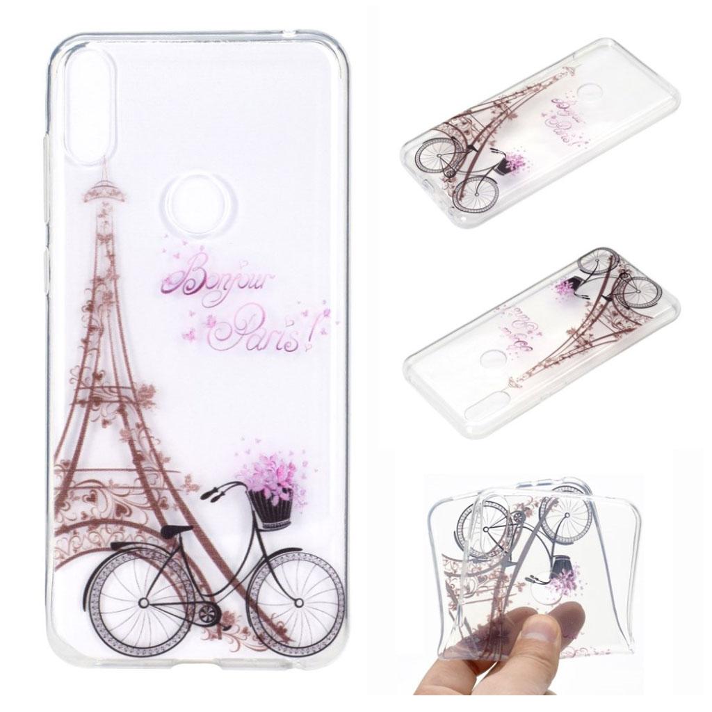 Deco ASUS ZenFone Max Pro (M2) cover - Eiffel Tårnet og Cykel