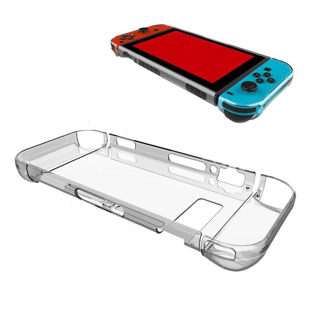 Nintendo Switch beskyttelsesetui i hård plastik med krystal klart design