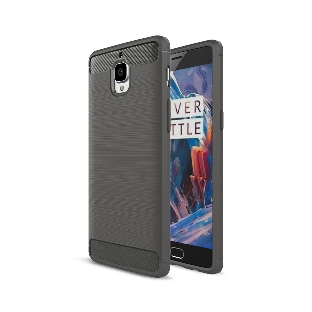 OnePlus 3 børstet siliconecover - Grå