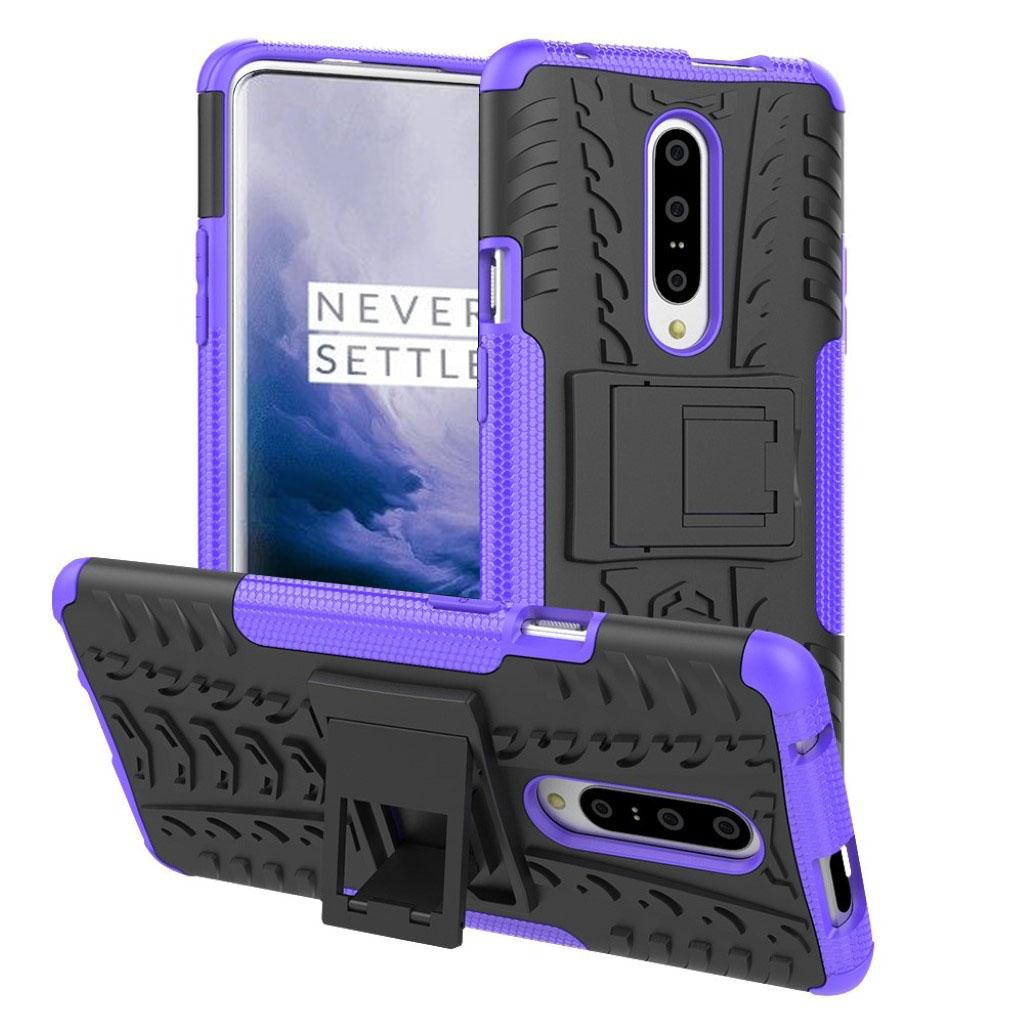 OnePlus 7 Pro anti-slip hybrid etui - Lilla