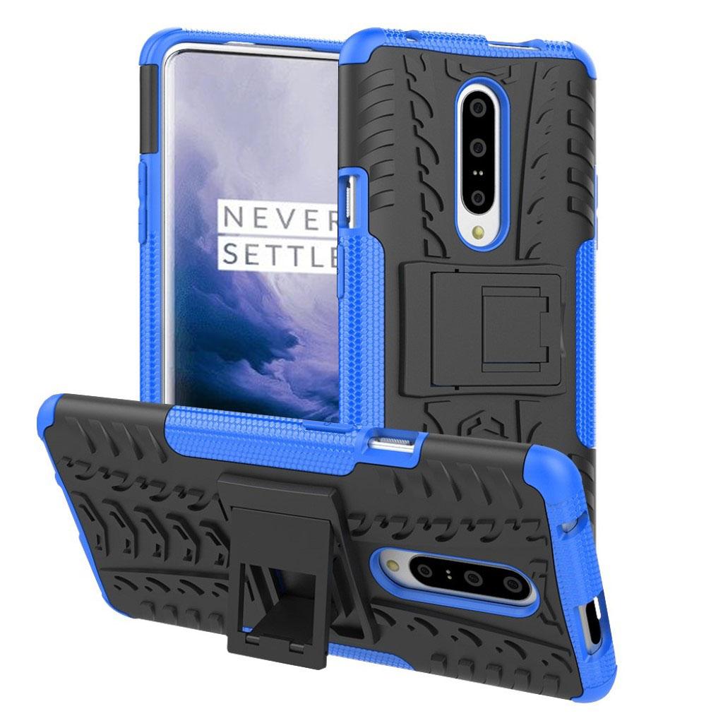 OnePlus 7 Pro anti-slip hybrid etui - Blå