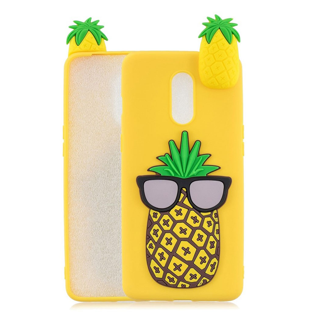 Cute 3D OnePlus 7 cover - Ananas