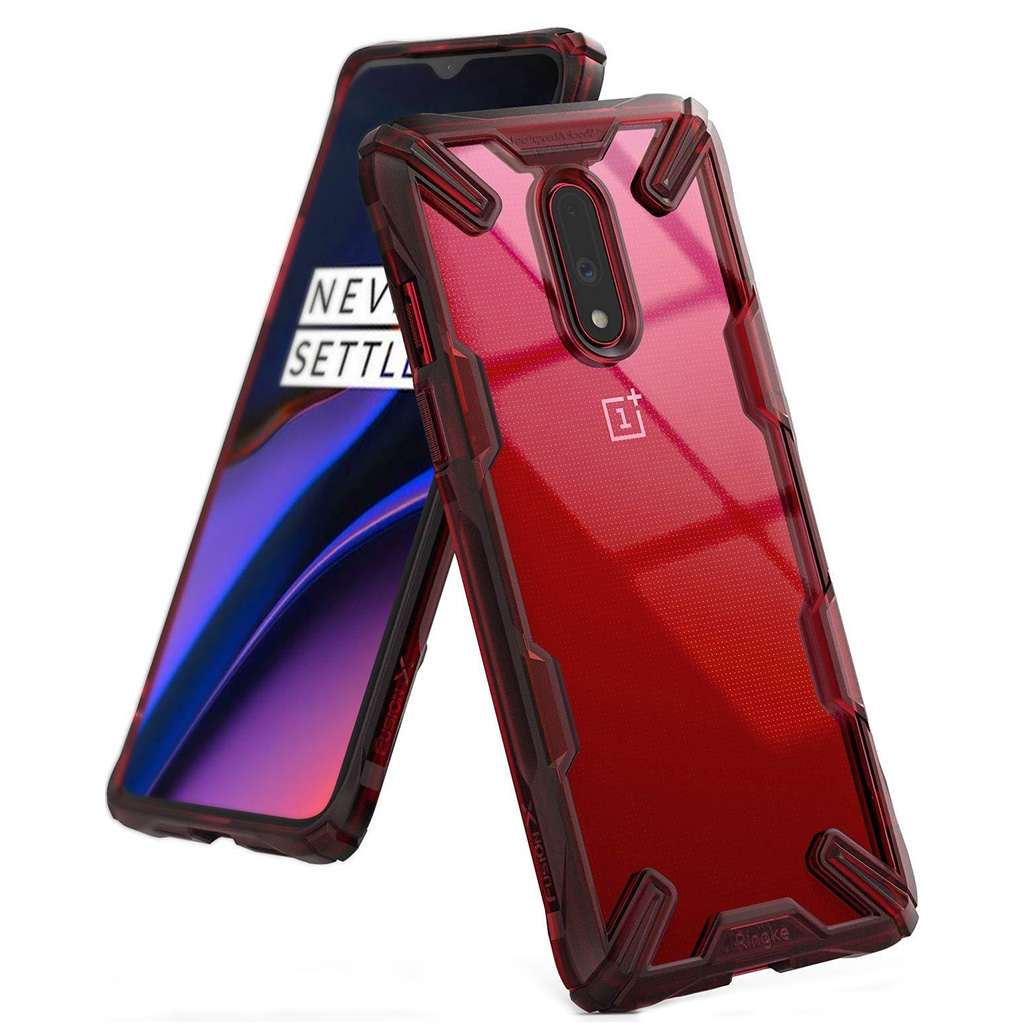 Ringke FUSION X OnePlus 7 - Ruby red