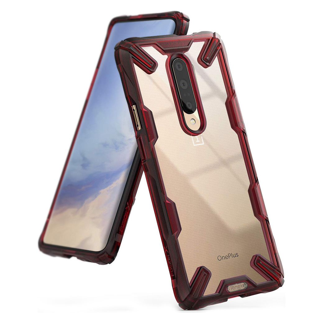 Ringke FUSION X OnePlus 7 Pro - Ruby red