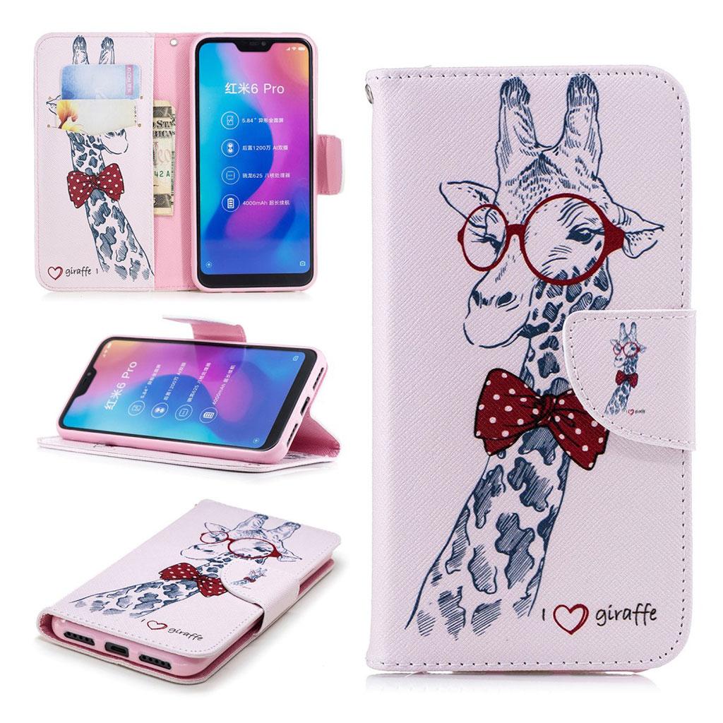 Wonderland Xiaomi Mi A2 Lite etui - Giraf med Briller
