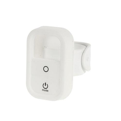 Beskyttende håndsleds-etui i silikone til GoPros fjernbetjening - Hvid