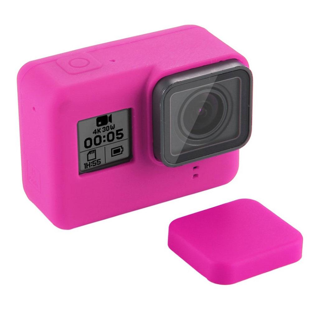 PULUZ GoPro HERO7 sort silikone ramme-cover - lyserød