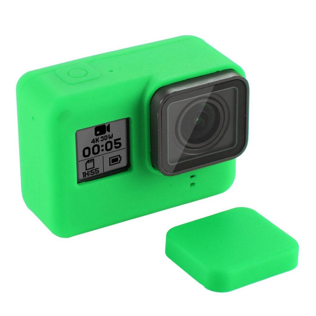 PULUZ GoPro HERO7 sort silikone ramme-cover - grøn