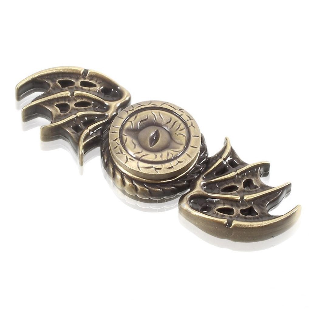 Image of   Fidget Hand Spinner med dragemønster - Bronze