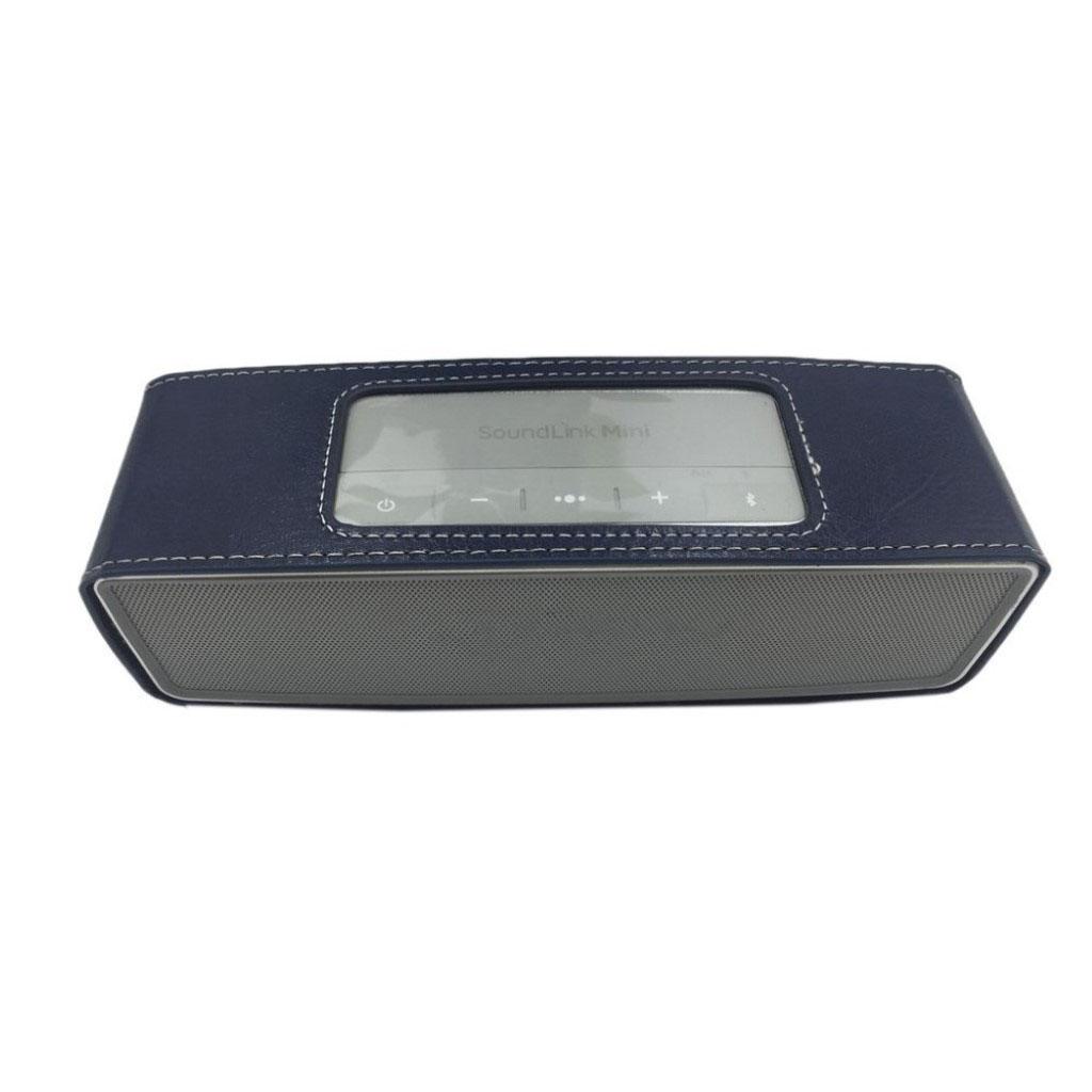 Bose Soundlink Mini II anti-knock leather case - Dark Blue