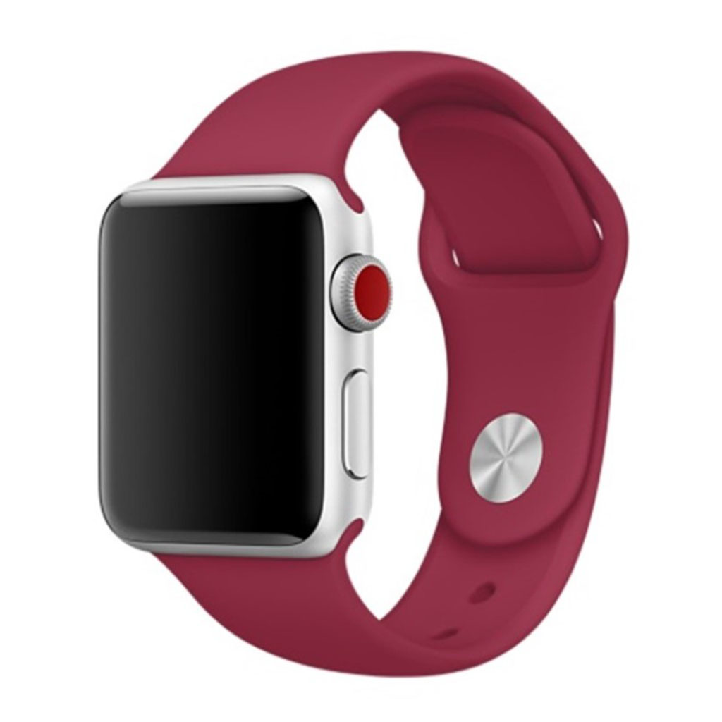 Apple Watch Series 4 44mm soft silicone watch band - Rose Red